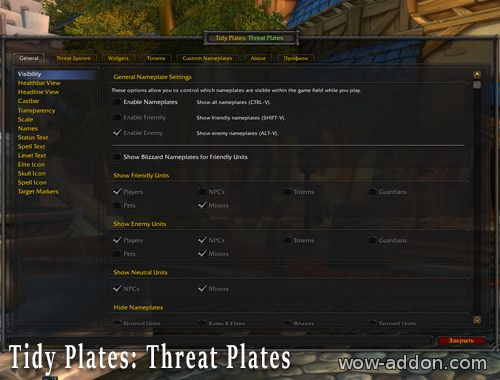 Tidy Plates: Threat Plates